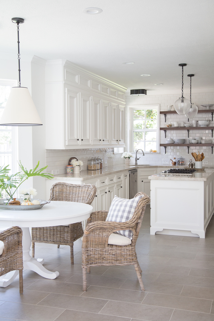 kitchen nook lighting custom built cabinets design dilemma coordinating island and breakfast how to coordinate in your combinations