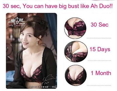 Hasil pemakaian eve magic bra setelah 1 bulan