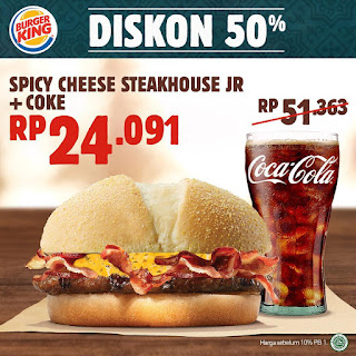 #BurgerKing - #Promo Kupon Diskon 50% Bulan Mei 2019 (s.d 31 Mei 2019)