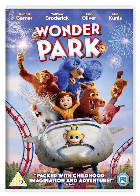 Wonder Park (PG) Family Movie Review and DVD Giveaway pack shot with lots of smiling animated animals