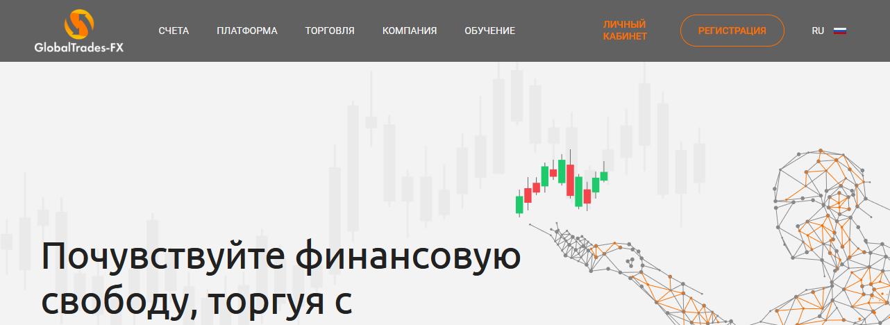 Мошеннический сайт globaltrades-fx.com/ru – Отзывы, развод. Компания Global Trades FX мошенники