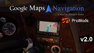 ets 2 google maps navigation for ProMods v2.0