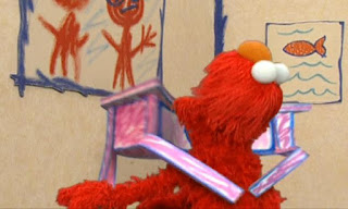Elmo finds Drawer. Drawer hugs him and licks his face. Sesame Street Elmo's World Friends