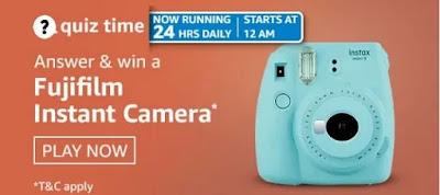 अमेज़ॅन क्विज़ 08th अप्रैल 2021-Win Fujifilm Instant Camera