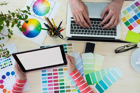 negócio designer gráfico online