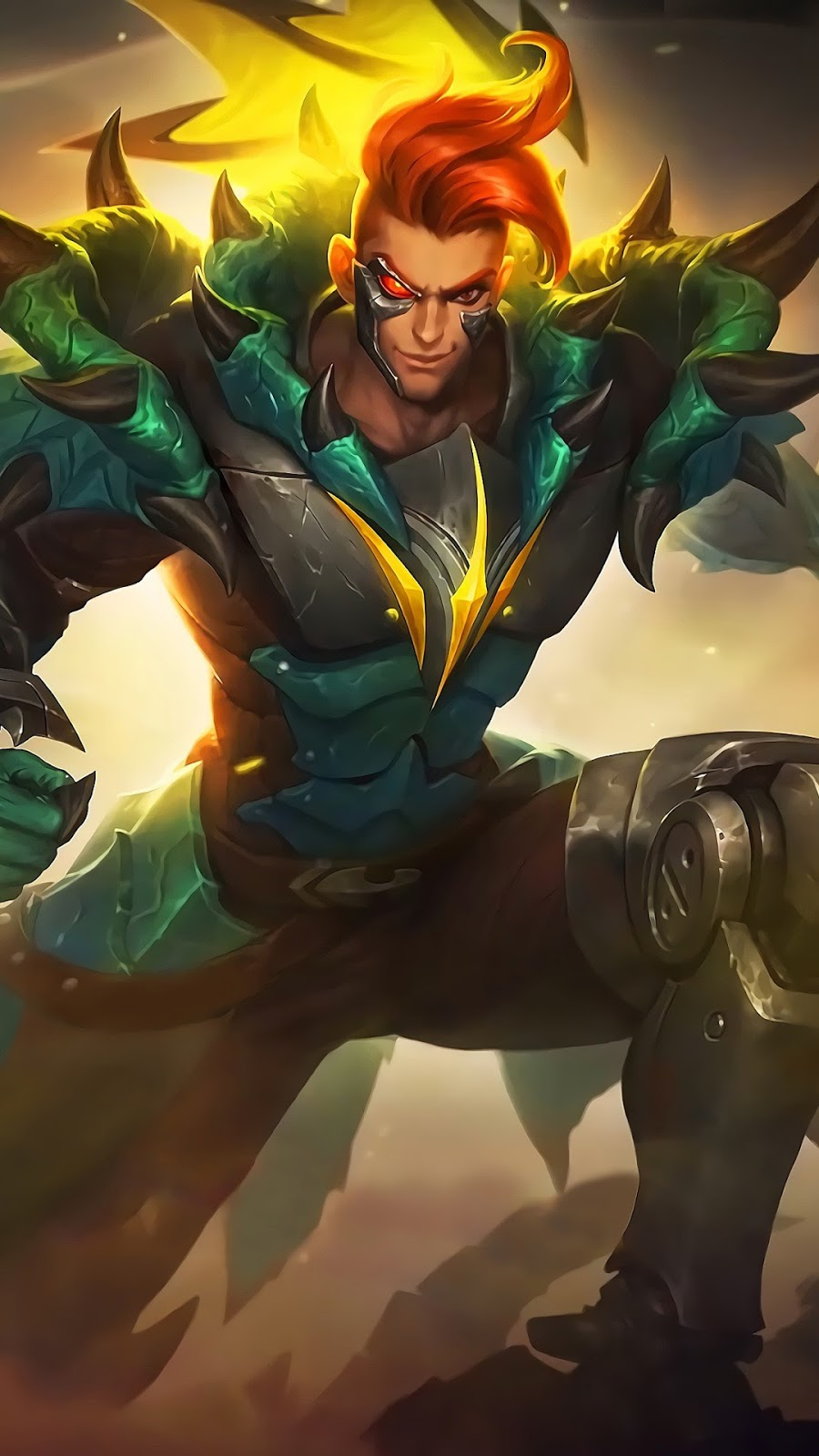 Wallpaper Claude Mecha Dragon Skin Mobile Legends HD for Android and iOS