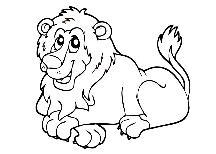 Tranh tô màu con sư tử 5