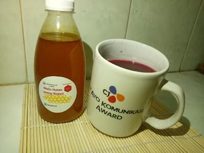 wedang secang madu kayumanis pala madu