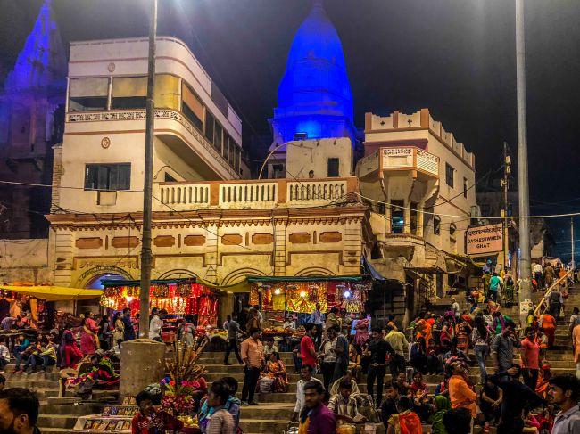 Dashaswmedh Ghat at Night