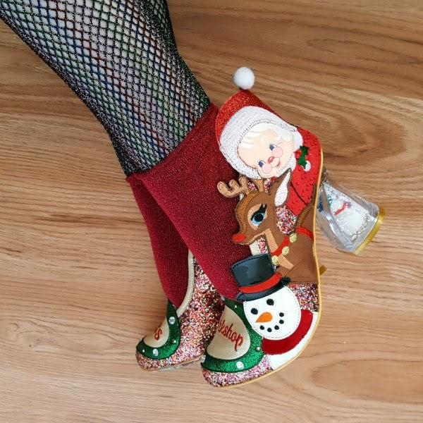 Irregular Choice christmas glitter court shoes