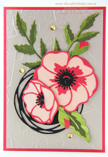 #thecraftythinker #stampinup #cardmaking #saleabration #sdbh #minicatalogue2020 #peacefulpoppies , Poppy Moments dies, Mini Catalogue, Painted Labels Dies, Sale-A-Bration, Stampin' Up Demonstrator, Stephanie Fischer, Sydney NSW