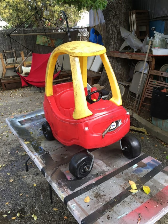 01-Ian-Pfaff-Little-Tikes-Cozy-Coupe-Infused-with-Mad-Max-www-designstack-co