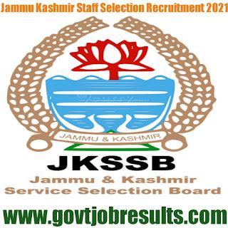 JKSSB Recruitment 2020