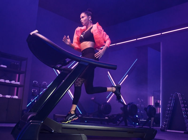 Adriana Lima does high intensity workout for the PUMA Zone XT Campaign