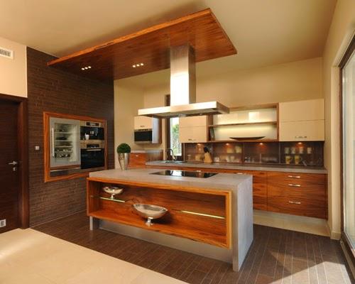 20 dapur cantik dan bersih dengan desain plafon kayu