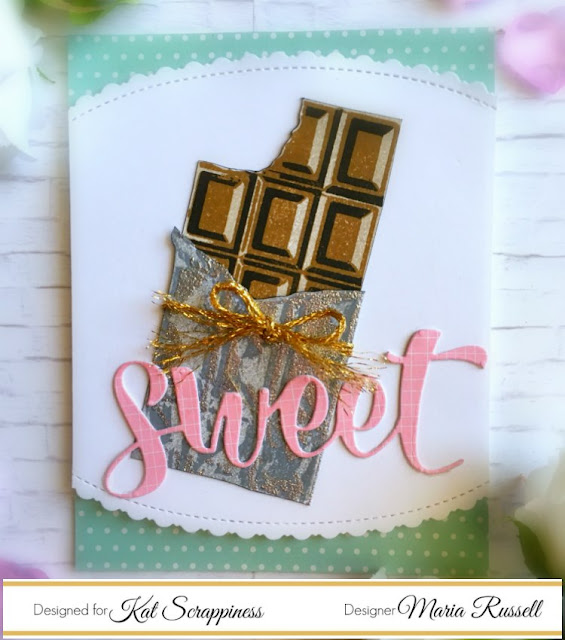 Kat Scrappiness Layered Chocolate Bar Stamp Set