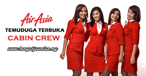 Temuduga Terbuka 2017 di AirAsia Berhad www.banyakjawatan.my