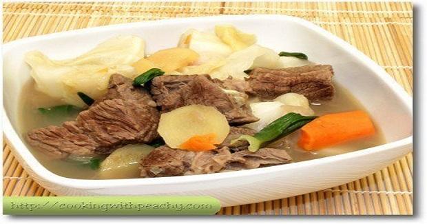 Nilagang Baka (Beef Soup) Recipe