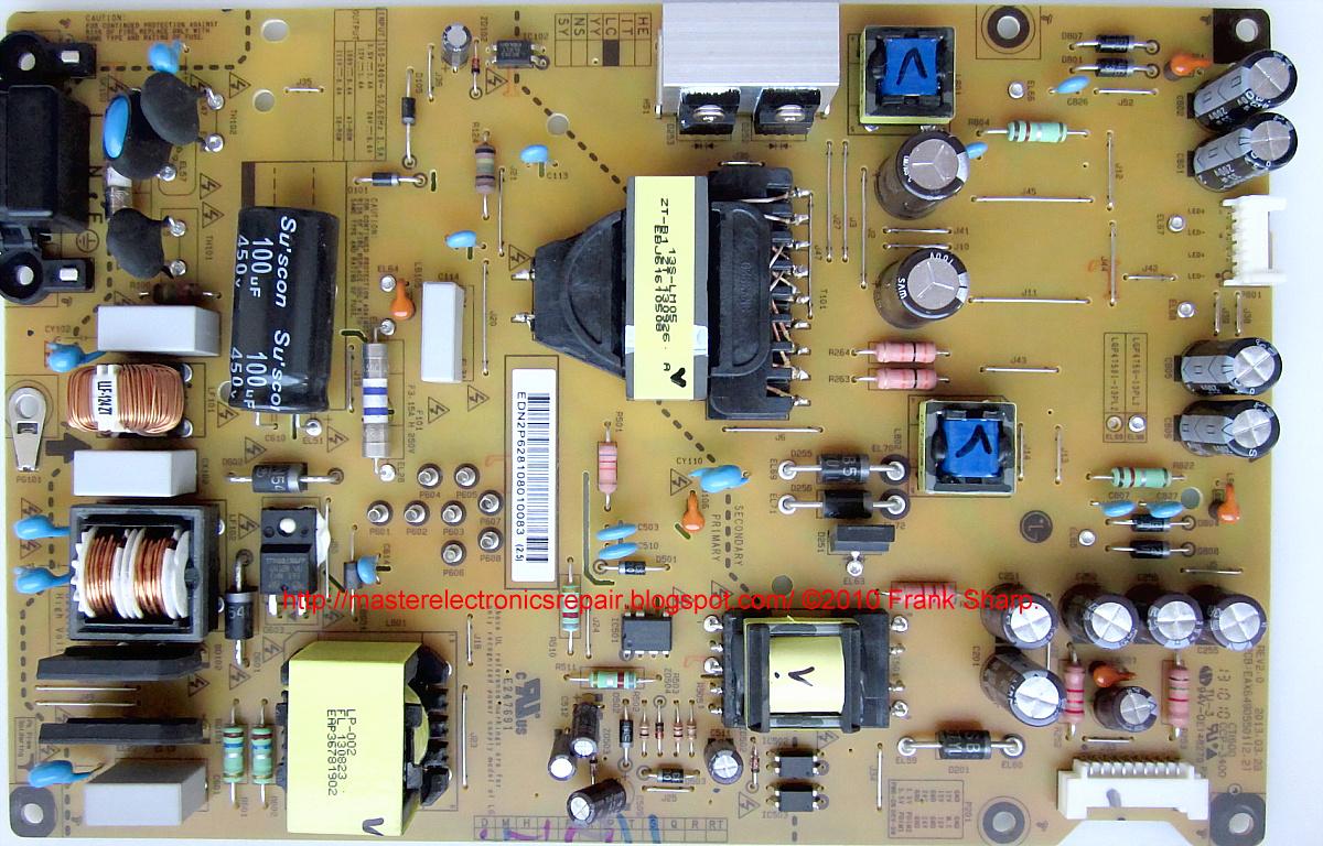 Master Electronics Repair    Repair    Servicing Tv Lg 47la615v