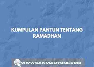 Pantun menyambut ramadhan 2021