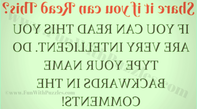 Share it if you can Read this?