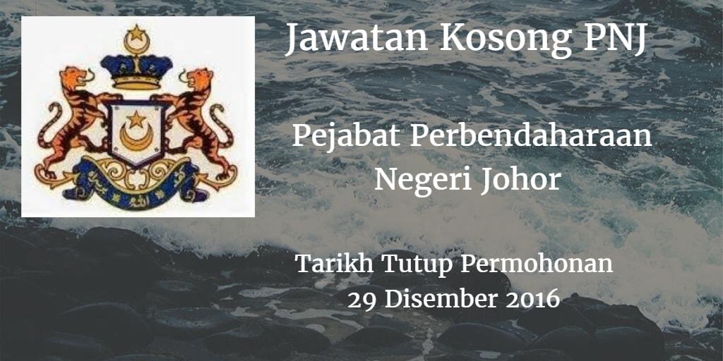 Jawatan Kosong PNJ 29 Disember 2016