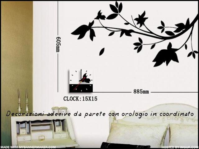 Arredo novit orologi adesivi da parete di for Decorazioni da parete adesive