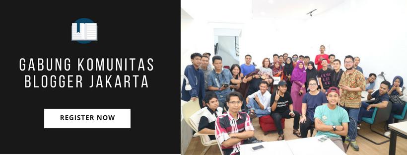 Registerasi Anggota Komunitas Blogger Jakarta