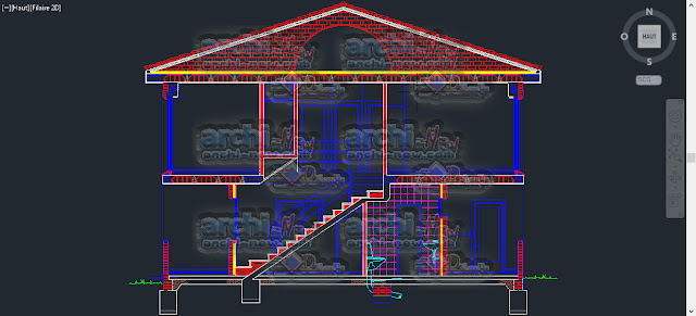download-autocad-cad-dwg-file-wall-cut-and-section-housing-two-levels