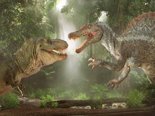 Batalla Spinosaurus vs Tyrannosaurus rex
