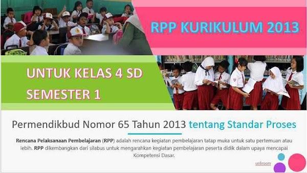 RPP Kelas 4 Semester 1 Kurikulum 2013 Revisi 2018 Tematik
