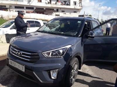 مقتل إمراة داخل سيارة بعد سقوط حجر على الزجاج الأمامي بالطريق السيار قرب درب سلطان