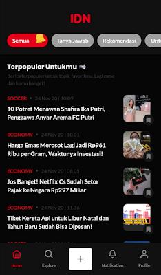 tampilan ui ux idn app
