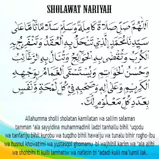 download teks sholawat nariyah