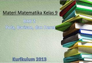 Materi Matematika Kelas 9 Bab 2 Pola Barisan Dan Deretan