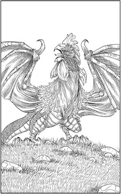 coloring of dragon for adult printable
