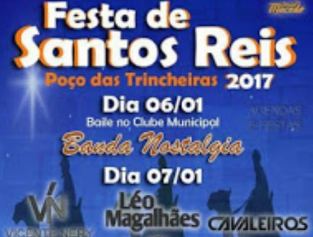Confira a programação musical da festa de Reis em Poço das Trincheiras/AL
