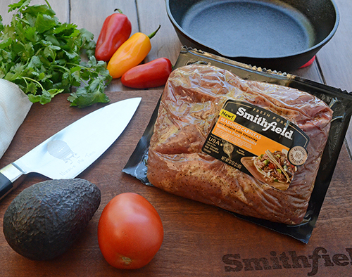 Smithfield Season Carnitas can be the base of a quick, easy 30 minute meal