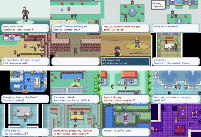Pokemon FireRed Rocket Edition Rom Screenshots