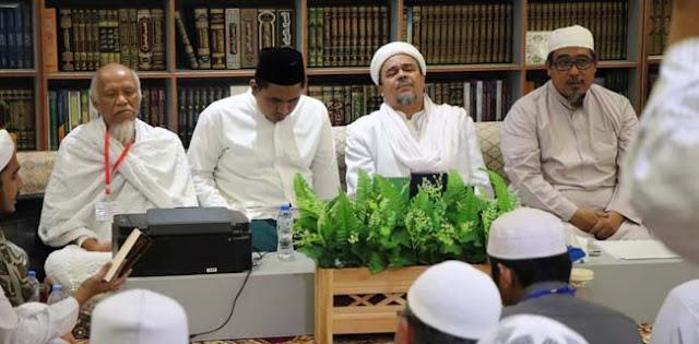 Putra Mbah Moen Sowan Ke Kediaman Habib Rizieq Shihab