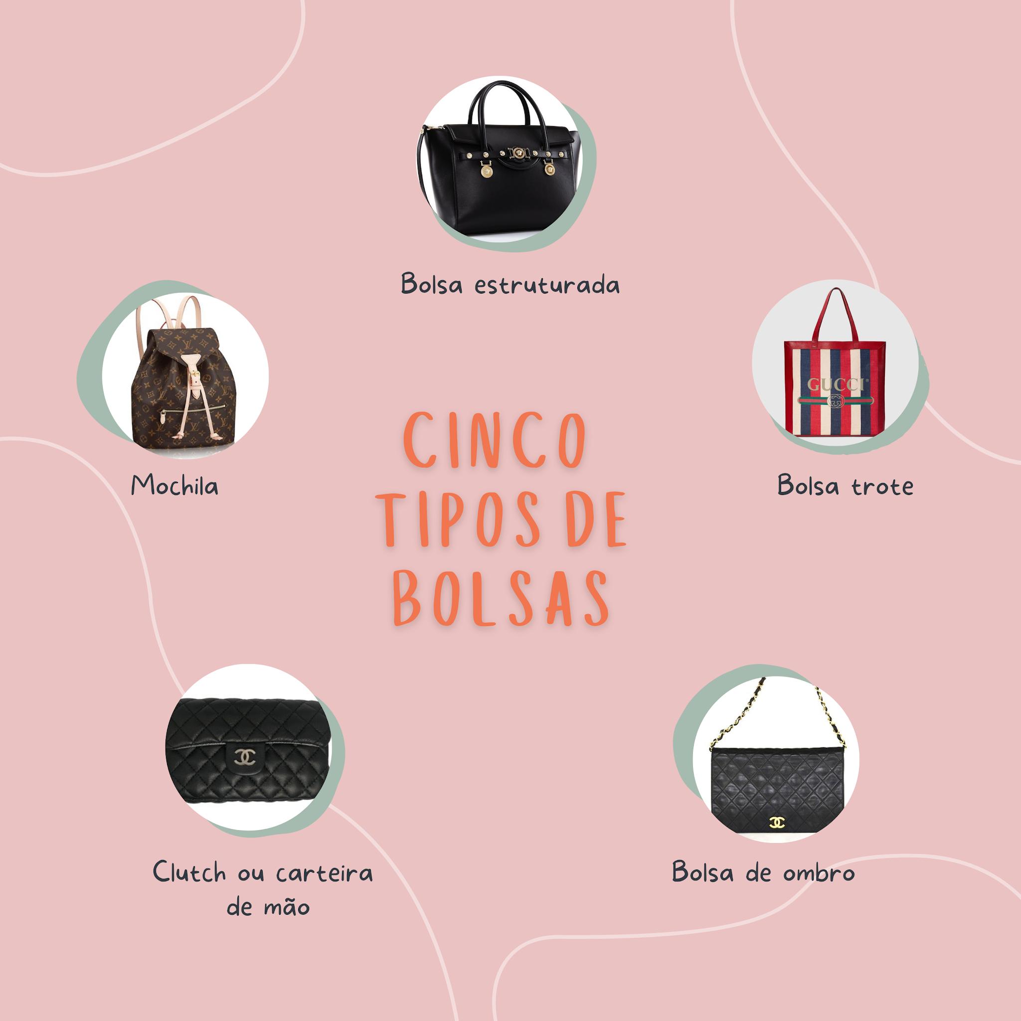 Cinco tipos de bolsas que toda mulher deve ter