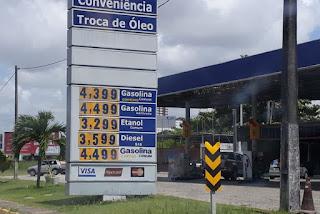 Preço da gasolina chega a R$ 4,39 em postos paraibanos e variação deixa Procon em alerta