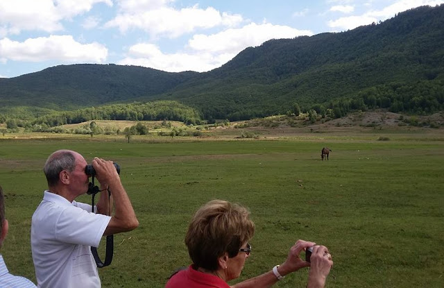 Austrian tourists in National park of Shebenik-Jabllanice