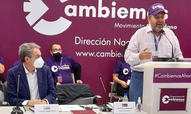 """RODRÍGUEZ ZAPATERO """"CAMBIEMOS ES EL PARTIDO DE PAZ, QUE RENOVARÁ LA DEMOCRACIA EN VENEZUELA"""""""