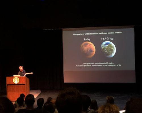 Mars climate observations indicate warm wet environment 3.7Ga (Source: D.M. Kass, JPL - Caltech)