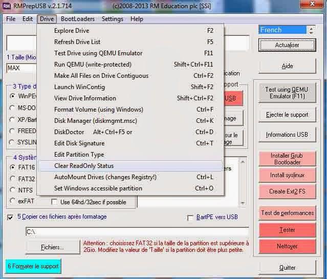 logiciel pour formater carte sd protege en ecriture Réparer Clé USB: 2013