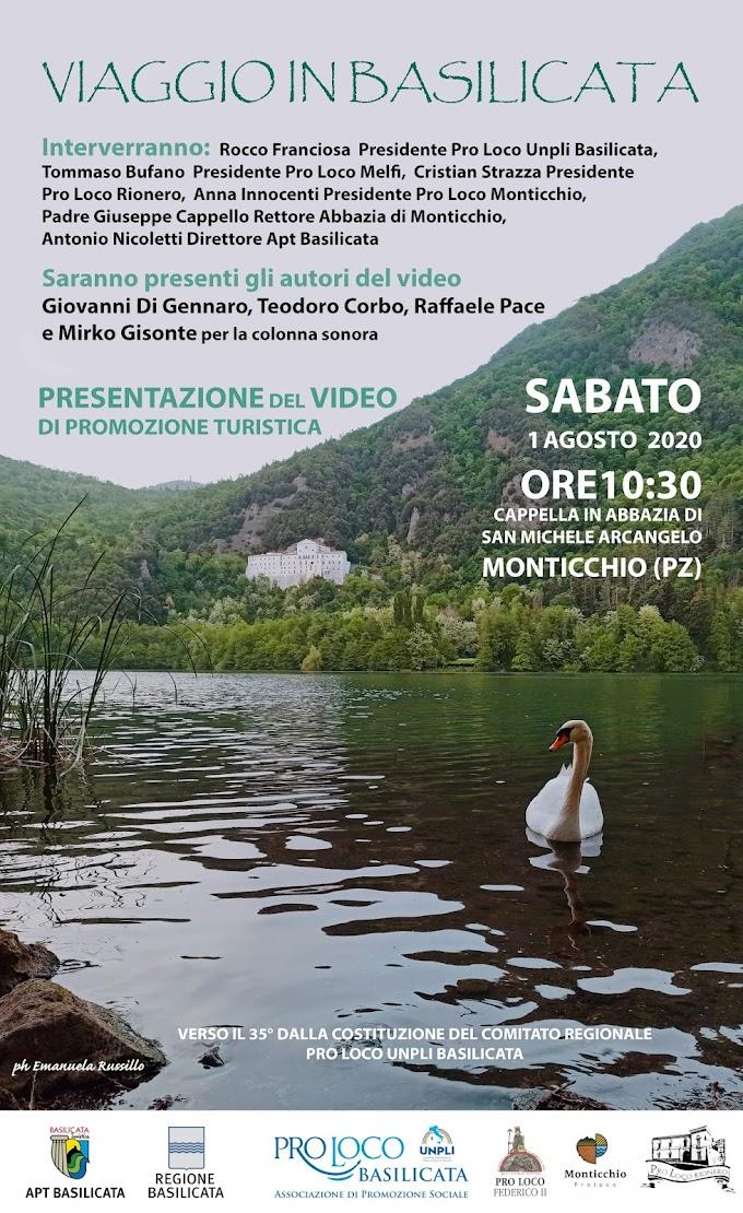 """Sabato 1 Agosto presentato il video di promozione turistica """"Viaggio In Basilicata"""""""