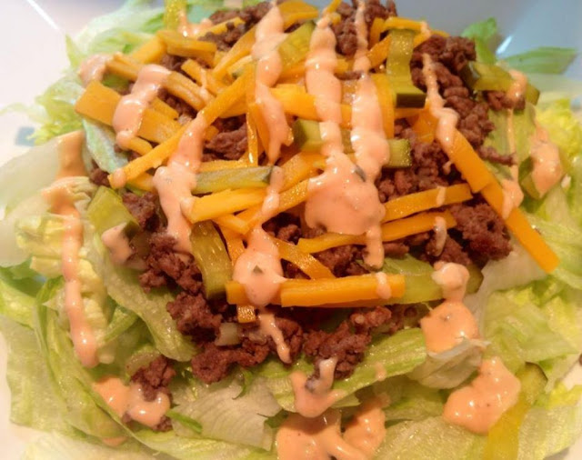 Big Mac in a bowl , 7 smart points , weight watchers recipes