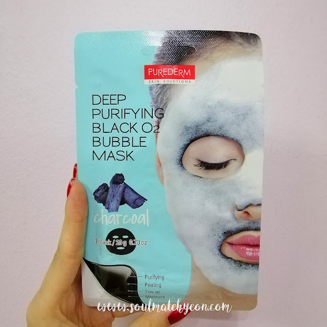 Review; Purederm's Deep Purifying Black O2 Bubble Mask (Charcoal) + First Impression