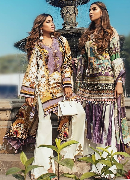 Elan Unstitched Lawn Suits